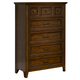 Liberty Furniture Laurel Creek 5 Drawer Chest in Cinnamon 461-BR41