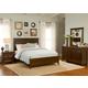 Liberty Furniture Laurel Creek 4 Piece Panel Bedroom Set in Cinnamon