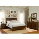Liberty Furniture Laurel Creek 4 Piece Panel with Storage Bedroom Set in Cinnamon