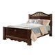 Standard Furniture Odessa King Poster Bed in Brown Cherry 69500-69516K
