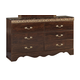 Standard Furniture Odessa 6-Drawer Dresser in Brown Cherry 69500-69509