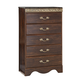 Standard Furniture Odessa 5-Drawer Chest in Brown Cherry 69500-69505