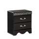 Standard Furniture Odessa Black 2-Drawer Nightstand in Black 69550-69557