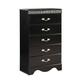 Standard Furniture Odessa Black 5-Drawer Chest in Black 69550-69555