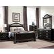 Standard Furniture Odessa Black Poster Bedroom Set in Black