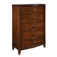 Standard Furniture Park Avenue II 5-Drawer Chest in Dark Golden Brown 87350-87355