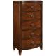Standard Furniture Park Avenue II 5-Drawer Lingerie Chest in Dark Golden Brown 87365