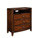 Standard Furniture Park Avenue II 3-Drawer Entertainment Chest in Dark Golden Brown 87350-87396