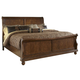 Liberty Furniture Rustic Traditions Queen Sleigh Bed in Rustic Cherry 589-BR-QSL