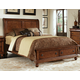 Liberty Furniture Rustic Traditions King Sleigh Bed with Storage in Rustic Cherry 589-BR-KSB