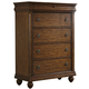Liberty Furniture Rustic Traditions 5 Drawer Chest in Rustic Cherry 589-BR41