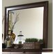 Liberty Furniture Rustic Traditions Landscape Mirror in Rustic Cherry 589-BR51