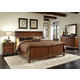 Liberty Furniture Rustic Traditions 4 piece Sleigh Bedroom Set in Rustic Cherry