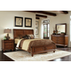 Liberty Furniture Rustic Traditions 4 piece Sleigh with Storage Bedroom Set in Rustic Cherry