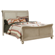 Liberty Furniture Rustic Traditions King Sleigh Bed in Rustic White 689-BR-KSL