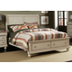 Liberty Furniture Rustic Traditions King Sleigh Bed with Storage in Rustic White 689-BR-KSB