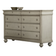 Liberty Furniture Rustic Traditions 8 Drawer Dresser in Rustic White 689-BR31
