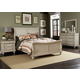Liberty Furniture Rustic Traditions 4 piece Sleigh Bedroom Set in Rustic White