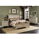 Liberty Furniture Rustic Traditions 4 piece Sleigh with Storage Bedroom Set in Rustic White