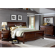 Liberty Furniture Sinclair 4 Piece Sleigh Bedroom Set in Rustic Russet