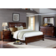Liberty Furniture Sinclair 4 Piece Sleigh with Storage Bedroom Set in Rustic Russet