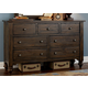 Liberty Furniture Southern Pines 7 Drawer Dresser in Bark 818-BR31