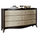 Liberty Furniture Sunset Boulevard 6 Drawer Dresser in Coffee Bean 769-BR31