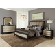 Liberty Furniture Sunset Boulevard 4 Piece Sleigh Bedroom Set in Coffee Bean