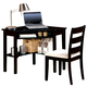 Acme Naco 2 PC Pack Corner Desk and Chair in Black 00518