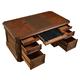 Parker House Versailles Double Pedestal Executive Desk in Dark Almond VER#9080-3