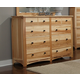 A-America Adamstown Dresser in Natural ADANT5500