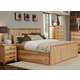 A-America Adamstown Panel Storage Bedroom Set in Natural