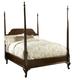 Fine Furniture American Cherry Queen Bridgeport Pencil Post Bed in Potomac Cherry 1020