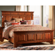 A-America Kalispell Mantel Queen Bed in Rustic Mahogany KALRM5030