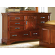 A-America Kalispell Dresser in Rustic Mahogany KALRM5500