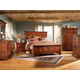 A-America Kalispell Mantel Bedroom Set in Rustic Mahogany