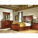 A-America Kalispell Mantel Storage Bedroom Set in Rustic Mahogany CODE:UNIV20 for 20% Off