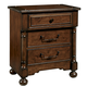Fine Furniture Harbor Springs 3 Drawer Nightstand in Port 1370-100