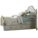 Legacy Classic Kids Inspirations Queen Westport Low Poster Bed w/ Underbed Storage Drawer (Both Sides) in Morning Mist 3830 PROMO