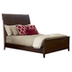 Kincaid Elise Solid Wood Caris Queen Sleigh Bed in Amaretto 77-135P