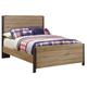 Dexfield Full Panel Bed in Beige Brown B298