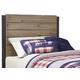 Dexfield Twin Panel Headboard Bed in Beige Brown B298