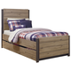 Dexfield Twin Panel Bed with Trundle Underbed Storage in Beige Brown B298