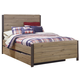 Dexfield Full Panel Bed with Trundle Underbed Storage in Beige Brown B298