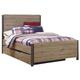 Dexfield Queen Panel Bed with Trundle Underbed Storage in Beige Brown B298