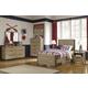 Dexfield Panel Bedroom Set in Beige Broom B298