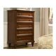 A-America Reedsport Drawer Chest in Java RDTJV5600 CLEARANCE