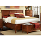 A-America Westlake King Storage Bed in Brown Cherry WSLCB5191