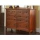 A-America Westlake Master Dresser in Brown Cherry WSLCB5510