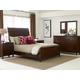 Kincaid Elise Solid Wood Caris Sleigh Bedroom Set in Amaretto